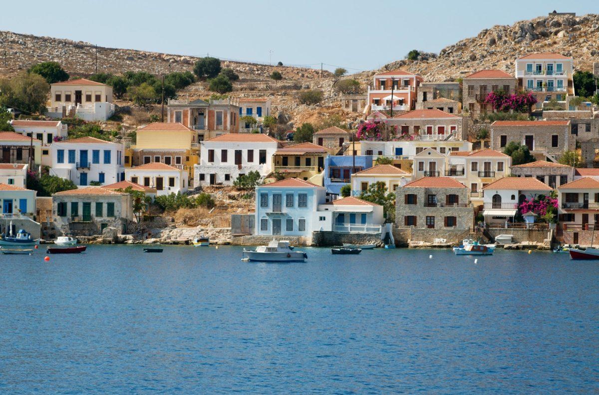 Halki island houses